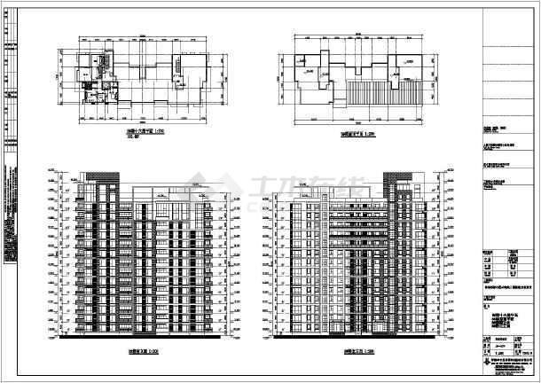 青岛某住宅小区高层住宅建筑方案设计图