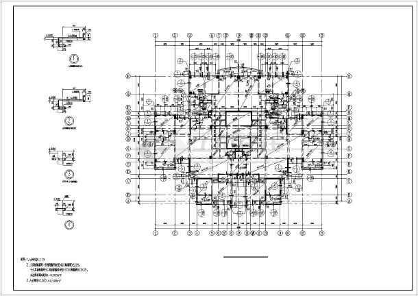 18层框架剪力墙结构住宅结构施工图
