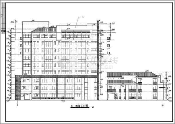 某地九层框架结构医院综合楼建筑设计施工图纸高清图片