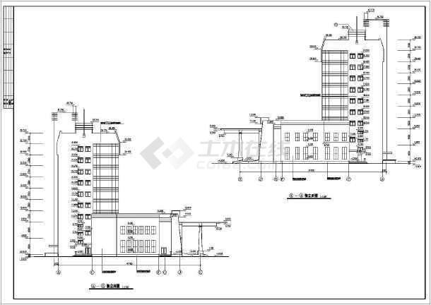某地9层混凝土框架结构宾馆建筑施工图纸