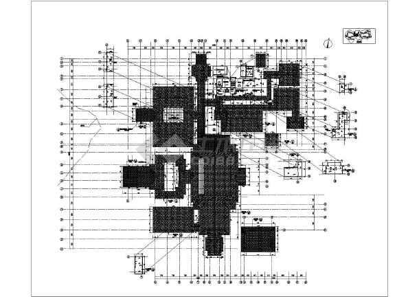 某地3层框架结构酒店建筑方案设计图