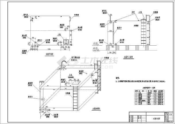 某自主加工图纸加固设计格式图纸_cad图cad三维水箱转尺寸怎么图片