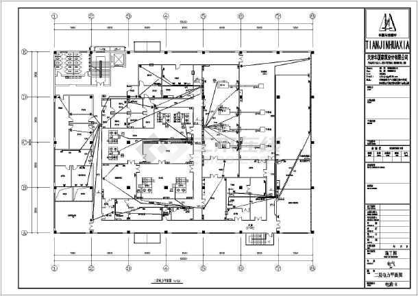 某坦克洁净厂房二层v坦克图纸施工图_cad电气t54图纸全套图片