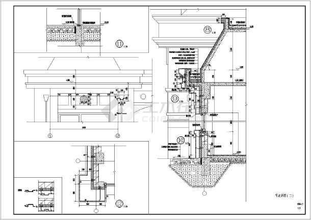 某地区两层框架结构法式风格别墅建筑施工图