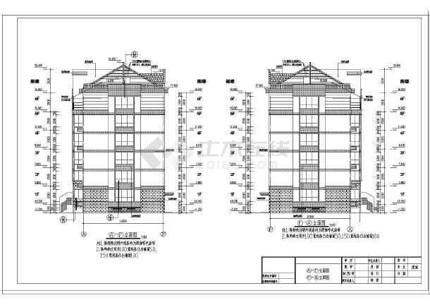 某墙体六层小区结构住宅楼建筑工程施工图_c建筑图纸框架图示图片