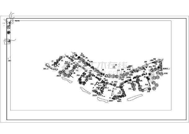 渡假村别墅园林景观植物配置施工图