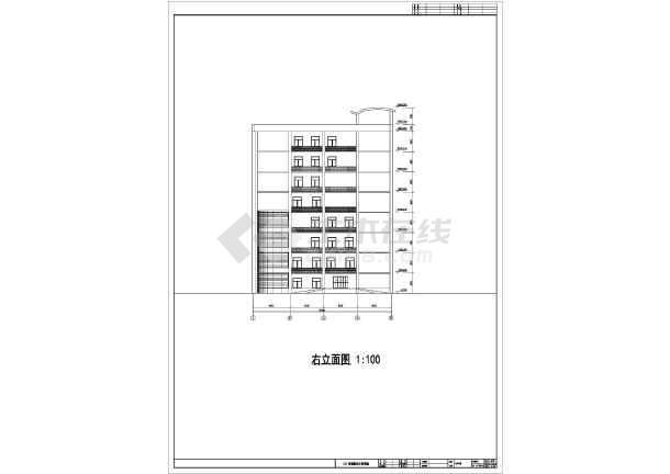 为某县医院8层综合楼建筑设计方案图