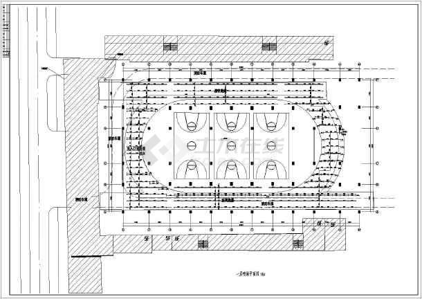 某地两层框架结构学校操场扩建工程给排水施工图