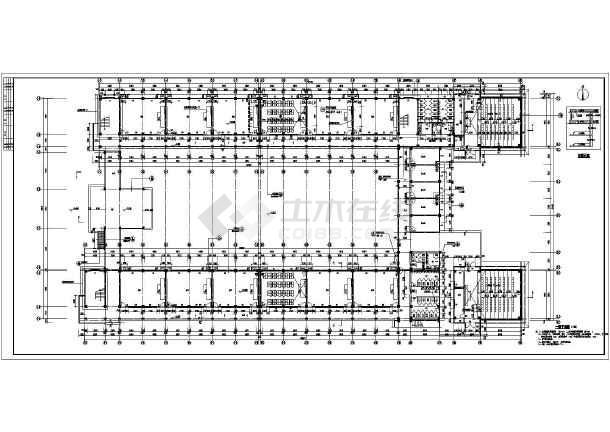 图纸 建筑图纸 教育建筑 中学教学楼设计图 浙江某五层框架结构教学楼图片