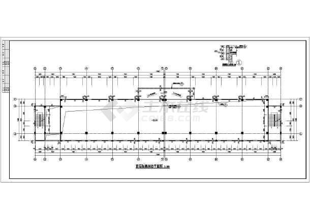 图纸 建筑图纸 教育建筑 中学教学楼设计图 某艺术学校四层综合教学楼图片