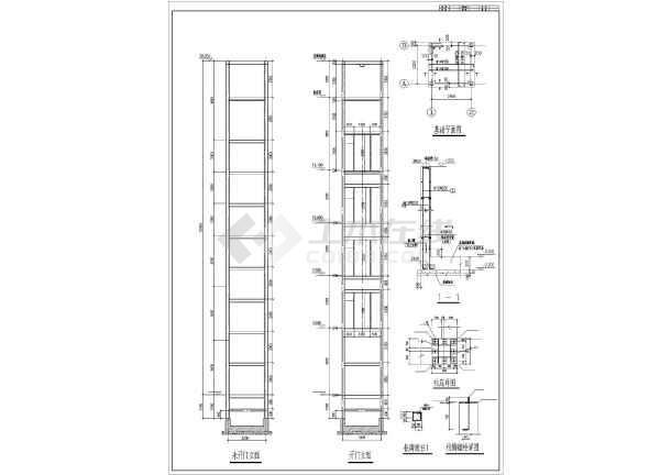 电梯机房平面布置图_某项目钢结构电梯井道及机房结构施工图(cad图纸下载)_土木在线 ...