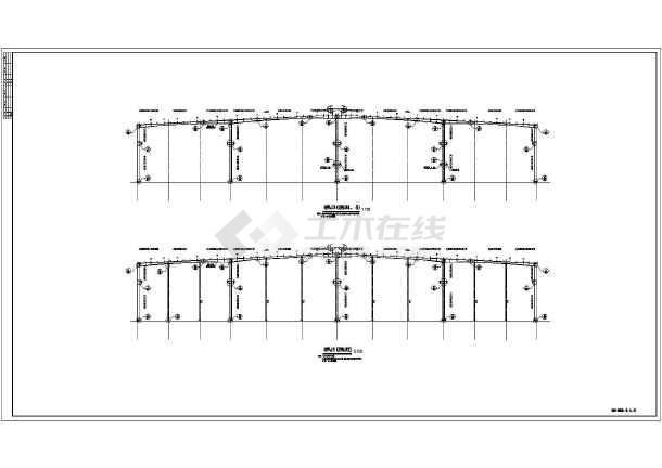 某双层多多台吨位图纸吊车钢结构施工图2(设计厂房悬挑脚手架设计图片