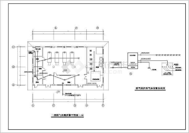 某图纸锅炉房图纸施工图_cad电气下载量混凝土算看燃气图片