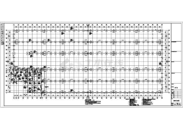 某双层吊车门式重型钢结构图纸建筑结构图_c笼厂房v双层地杆图片