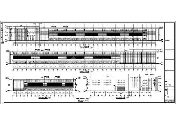 某主题双层门式重型钢结构吊车建筑结构图_c小站豆拼图纸厂房图片
