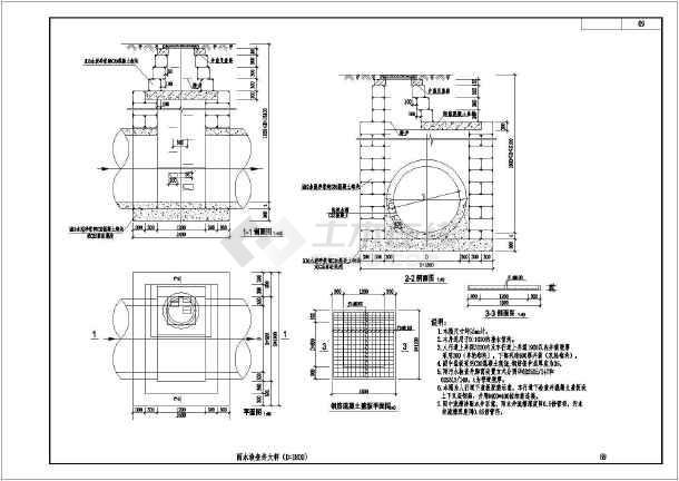 图,满包混凝土加固大样图,hdpe双壁波纹管管沟开挖及回填图,双箅雨水图片