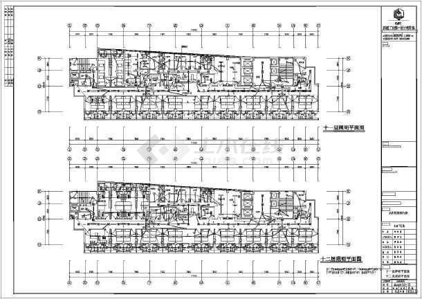 框架式结构,图纸内容包括:一次系统图,配电箱系统图,大楼各层的照明