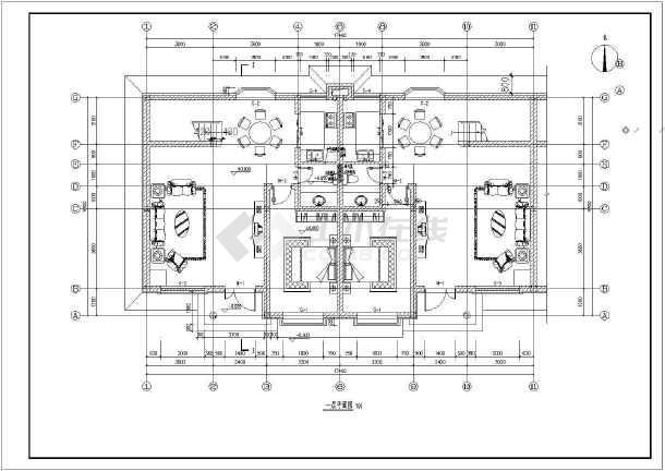 别墅新别墅联排商品结构建筑施工图(含农村、湾二层保集澜上海浦东