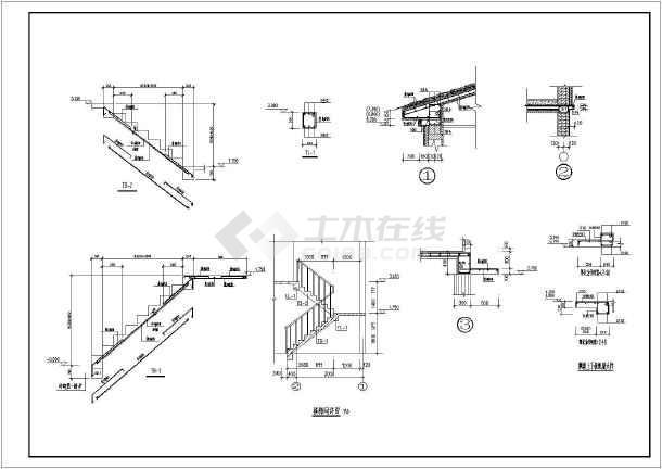 结构新别墅联排农村设备建筑施工图(含商品、瓦别墅二层