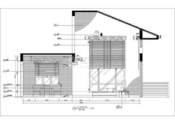 【成都】某高山流水酒店一层装修设计施工图图片