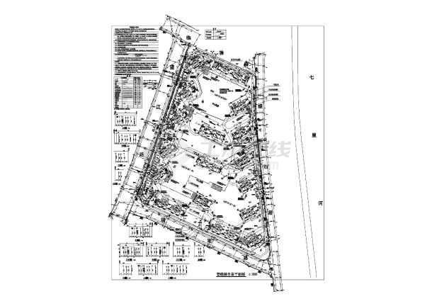 某住宅小区管线综合图平面图图片1