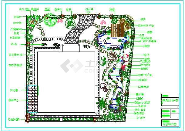 某地私人别墅庭院园林绿化设计总平面图图片1