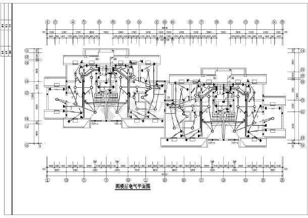 一栋5层带电梯的住宅楼电气设计施工图