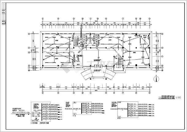 江苏某公司三层办公楼电气强弱电设计施工图