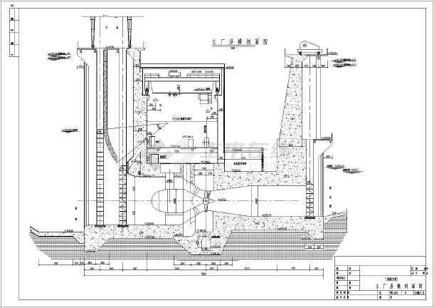 小型 电站 某处 机组 图纸/某处的小型的贯流式机组电站可研图纸/图5