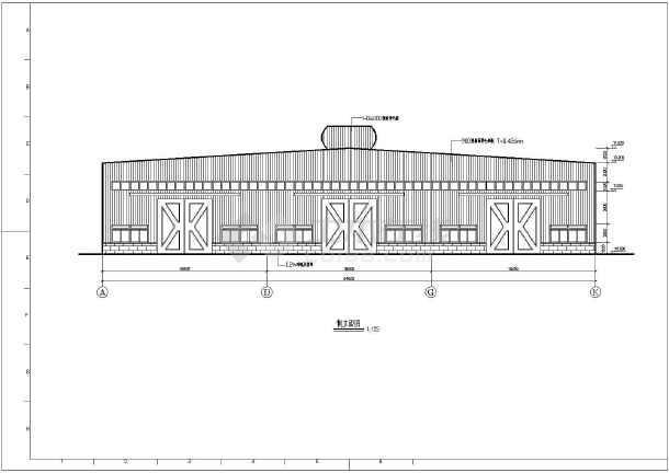 厂房结构设计 轻钢结构厂房 某三联跨门式刚架厂房结构设计施工图