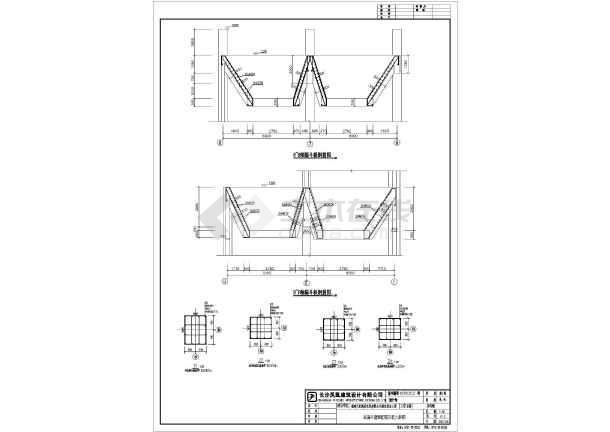 福建某水泥厂原料棚建筑结构施工图图片3