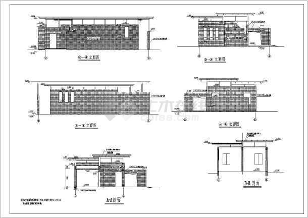 某无障碍公共厕所建筑结构机械施工图_cad图cad图纸v厕所水电图片