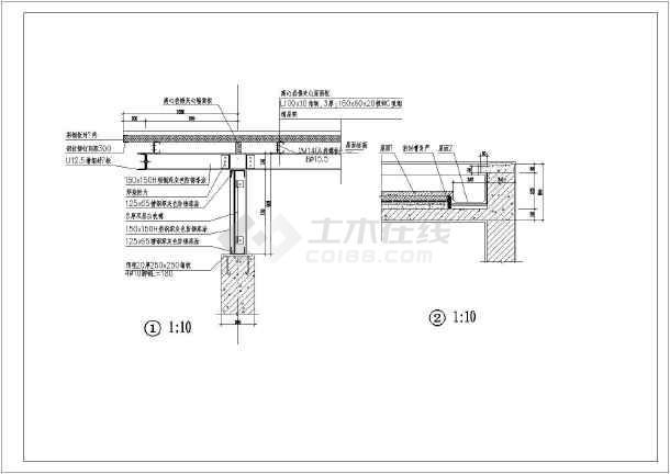 某无障碍公共厕所建筑结构水电施工图(cad图纸下载)