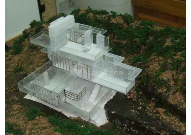 流水别墅模型制作5