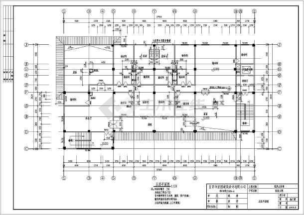 荣县某五层框架结构宾馆结构施工图