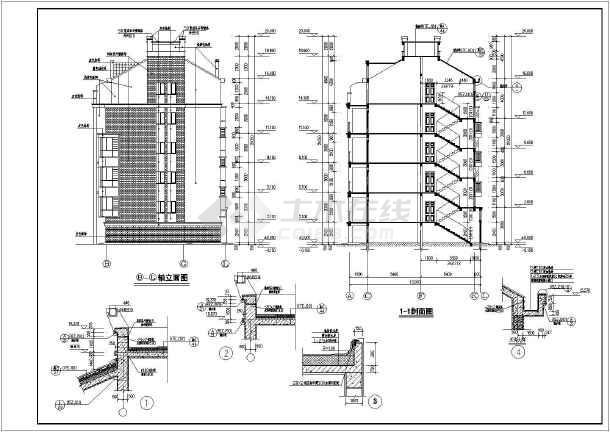某的小区6层框架结构住宅楼施工图