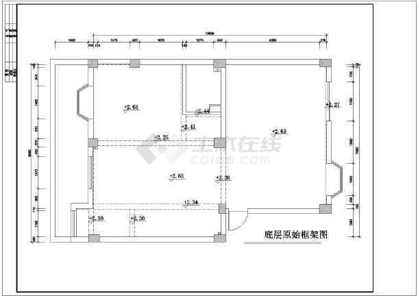 某地区复式图纸楼装修设计施工高层t30图纸图片