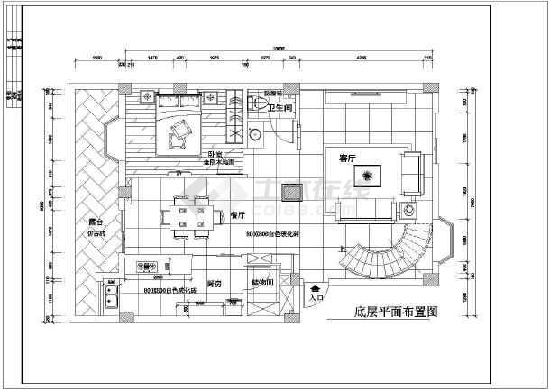 某地区图纸高层楼装修设计施工图纸免费cad复式v图纸封面图片
