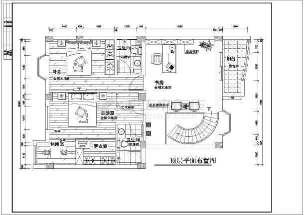 某地区图纸复式楼装修设计施工图纸图高层管理办法底图片