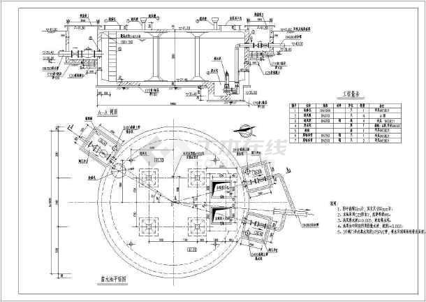 某设计院设计图纸结构水池配置页面图纸_cadcad钢筋整个显示全套图片
