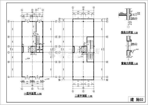 某地六层底框结构住宅楼建筑设计施工图