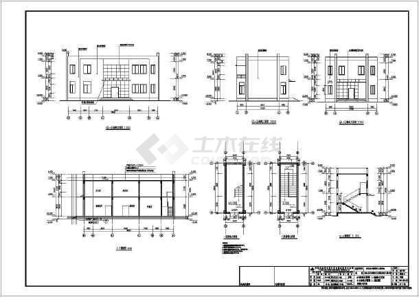 某地二层框架结构幼儿园食堂建筑施工图