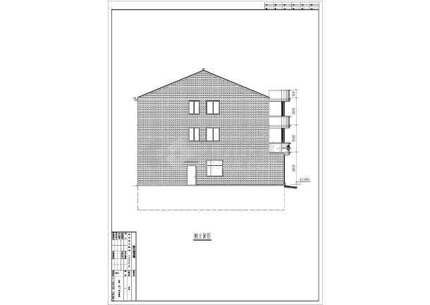 该工程为三层底框结构农村私宅建筑设计图纸,底层为地下室,用于车库