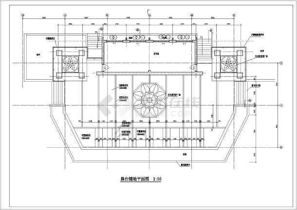 某室外舞台及附属用房建筑设计方案图