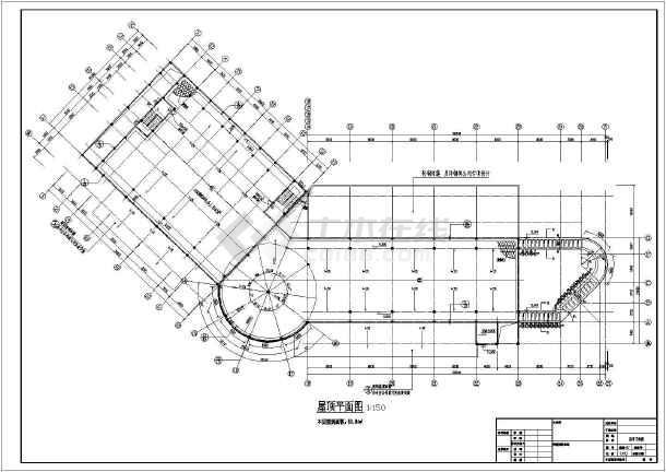 某县级市两层框架结构(二级车站)站房全套建施图