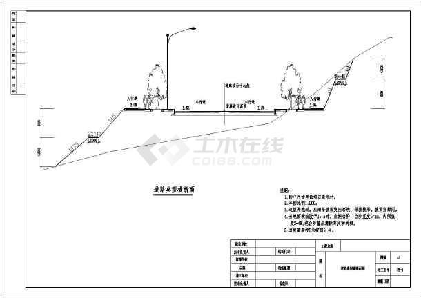 市政道路工程图市政道路工程图纸市政道路工程竣工图