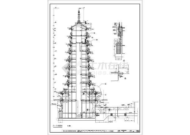 【桂林】九层框架结构宝塔设计施工图纸