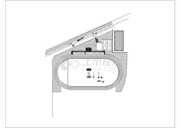某现代简约风格学校田径场升旗台建筑设计施工图