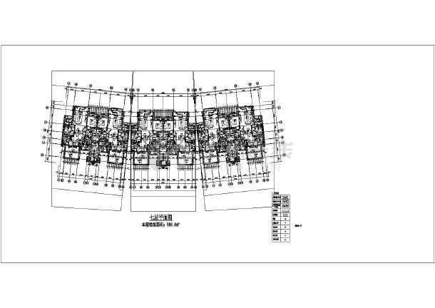 【重庆】八层板式框架结构住宅楼建筑施工图纸图片