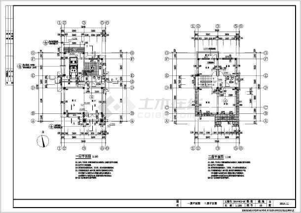 某农村三层小别墅建筑设计施工图纸